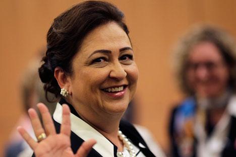 Kátia Abreu fez discurso no Fórum de Agronegócios do Brics, nesta quinta-feira (8)
