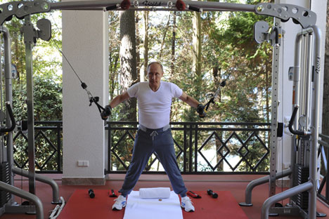 Predsjednik Rusije Vladimir Putin trenira u rezidenciji Bočarov Ručej u Sočiju.