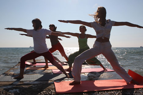 Yoga continues to grow in popularity across Russia.