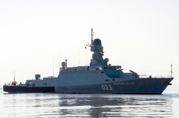 Veliky Ustyug fast attack ship.