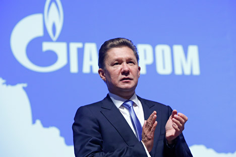 Gazprom CEO Alexei Miller attends a news conference after the annual general meeting of the company's shareholders in Moscow, June 27, 2014.