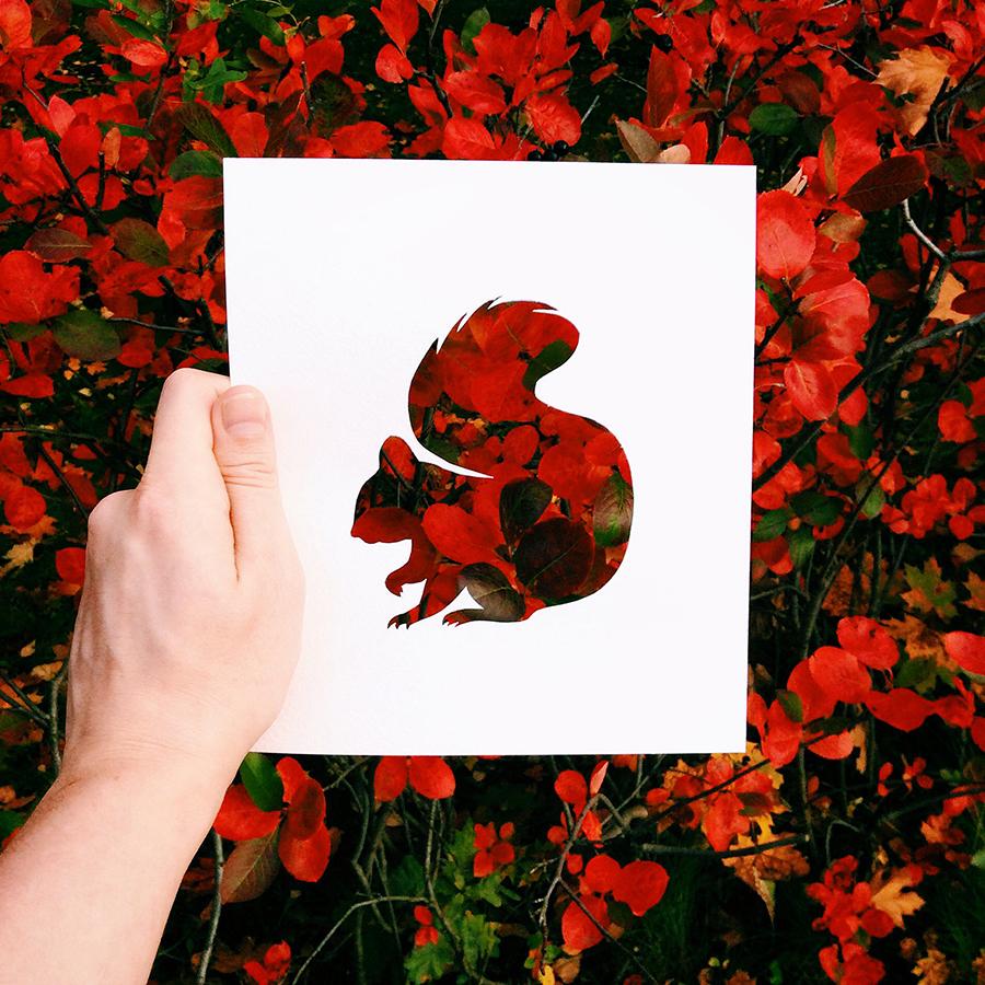 ロシア人ジャーナリストのニコライ・トルストイ氏は新たなInstagramプロジェクトを立ち上げた。彼は紙を使って動物のシルエットを切り抜き、自然の力を借りて「彩色」するというものだ。