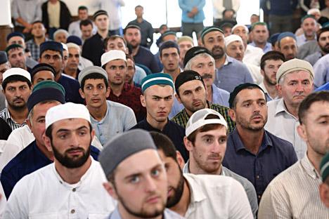 Dans une mosquée de Makhatchkala, au Daghestan.