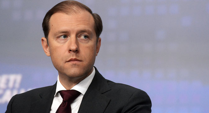 Russian Industry and Trade Minister Denis Manturov.