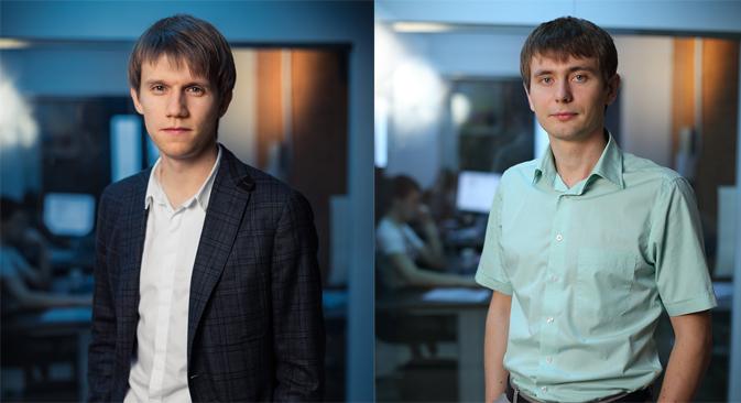 Vladimir Kovalsky (left) and Dmitri Lazutkin.