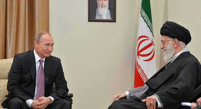Vladimir Putin and Ayatollah Khamenei discussed Syria, bilateral relations.