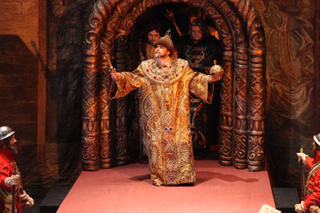 "The opera Boris Godunov is arguably the Bolshoi's most ""populous"" performance in terms of clothes."