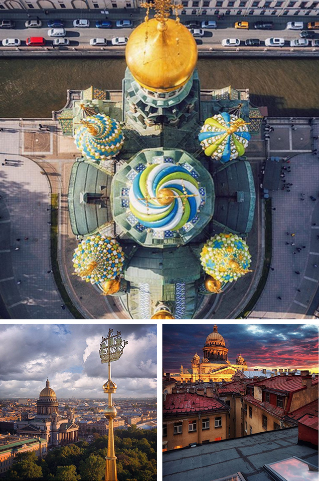 @smelov.photo   観光客に人気のサンクトペテルブルクを、多才なイヴァン・スメロフが撮影。この都市を訪問する予定なら、彼のInstagramアカウントを見てみるといいだろう。ドローンから撮った大聖堂はネットで一気に広まった。
