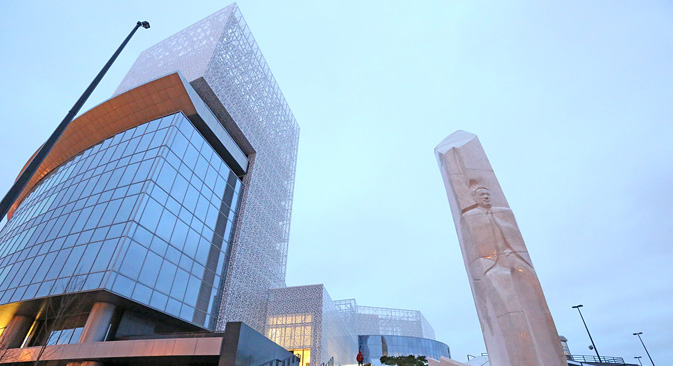 A museum to Boris Yeltsin in Yekaterinburg.