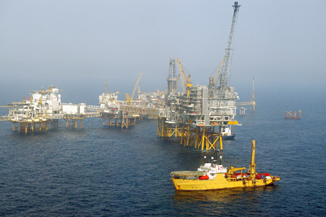 Drilling Platform, E.ON, North Sea, Germany Source:Press PhotoNorth Sea, Germany