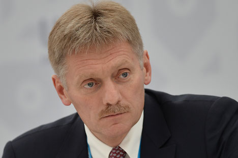 "Dmitry Peskov: ""We flatly deny the possibility of official involvement in any attempts of organizing any illegal actions."""