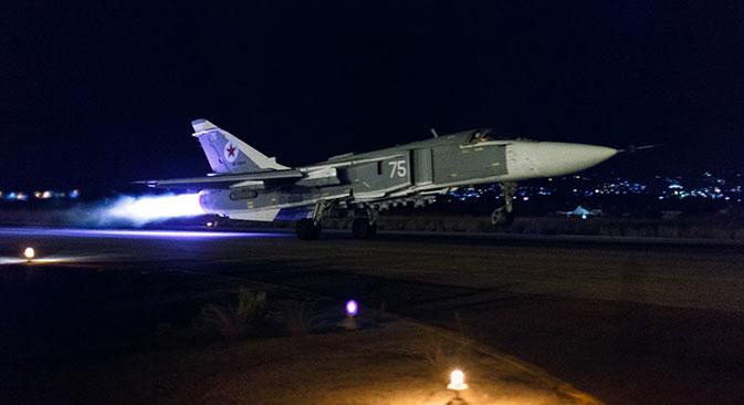 Aerei russi nei cieli siriani