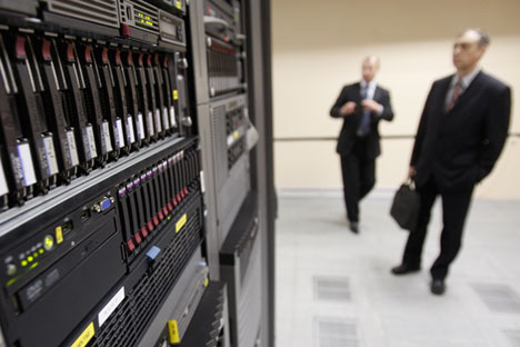 Le centre de traitement de données de Rostelecom à Saint-Pétersbourg.