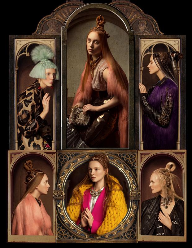 ロシア人写真家のアンドレイ・ヤコブレフ氏とアートディレクターのリリー・アレエヴァは、極めてユニークなファッション写真を撮影した。この一連の写真はIQONと呼ばれ、鮮明な凝った衣装と複雑な髪型、そしてカトリックの大聖堂内部の背景を組み合わせている。ステンドグラスの窓や宗教美術を背景とするモデルの衣装や髪の色、穏やかなポーズは際だって精巧で均整のとれた優雅さに満ちている。