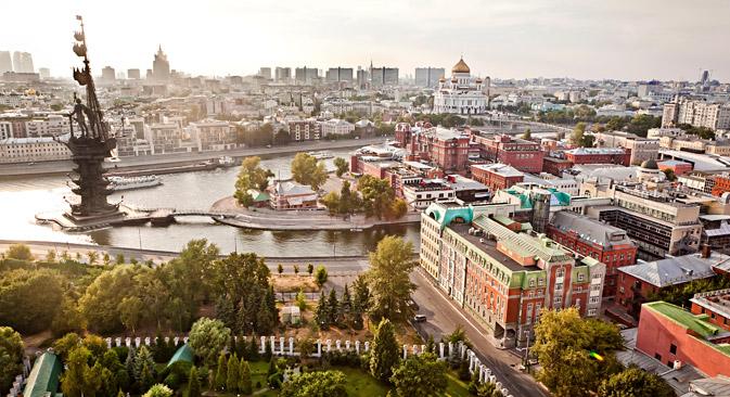 Mosca vista dall'alto