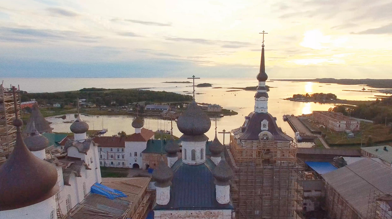 Les îles Solovki.