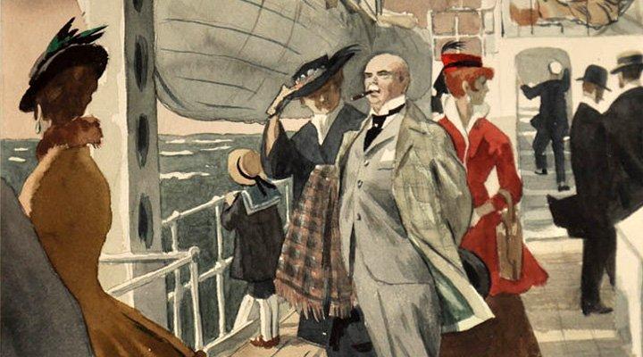 """Анонимен богат господин пътешества с кораба """"Атлантида"""" до Италия."""