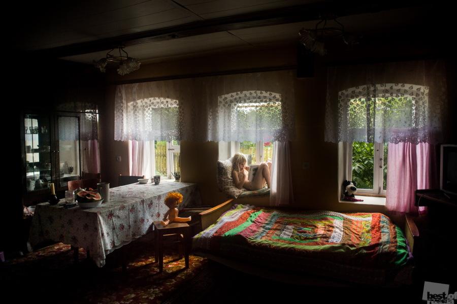 Gerne auch kreativ, lebhaft, ungewohnt. / Auf dem Dorf. Saborje. Oblast Rjasan.