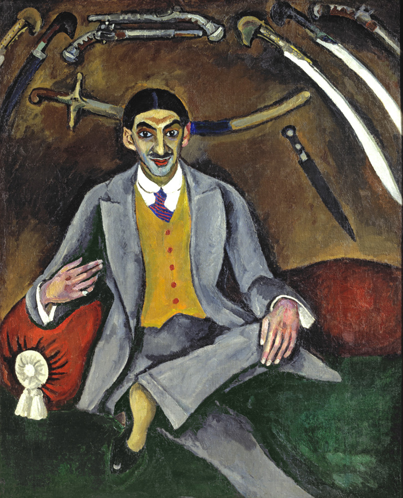"4. As well as new movements in Paris, at first Konchalovsky's painting was not accepted in his homeland. When in 1910 he decided to display one of his most famous works at the moment – Portrait of the Artist Georgy Yakulov, his colleagues did not want to put their paintings next to this ""scarecrow,"" critics called the portrayal of Yakulov a ""victim of an automobile,"" and one of spectators wrote ""a fool"" on the wall under the portrait. // Portrait of the Artist Georgy Yakulov, 1910."