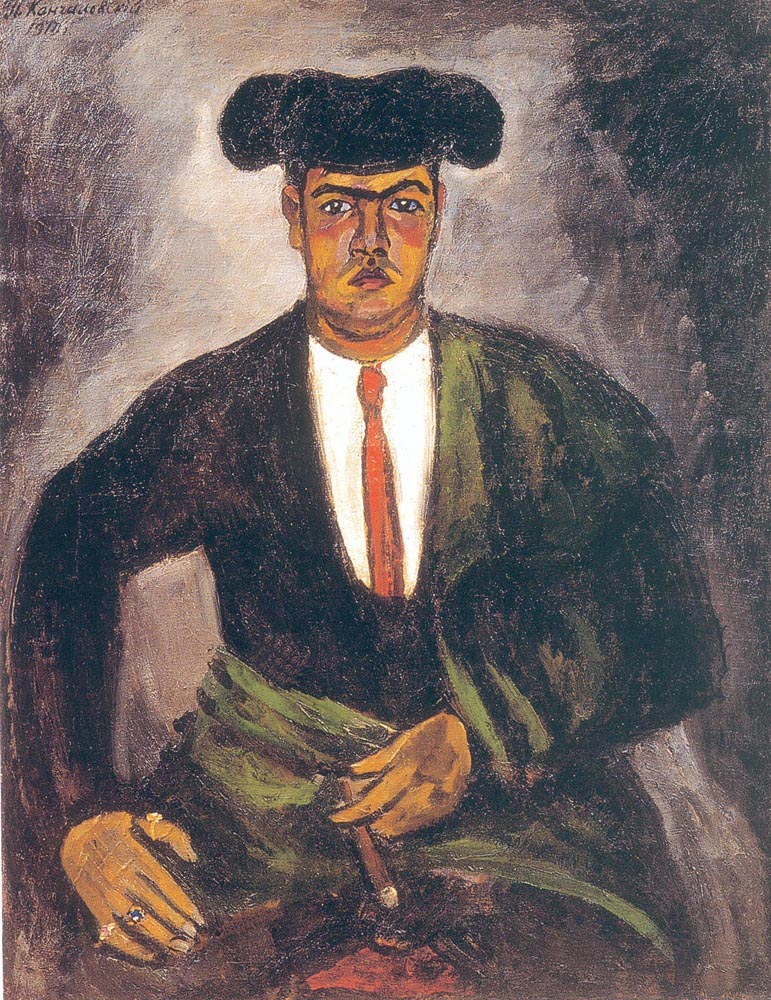 5. Konchalovsky spent much of the period from 1900-1910  traveling across France, Italy, and Spain, and participated in large-scale expositions – in the Salon des Independants, the Salon d'Automne in Paris and at the Moderne Kunstkring at the Stedelijk Museum in Amsterdam. // Matador, 1912.