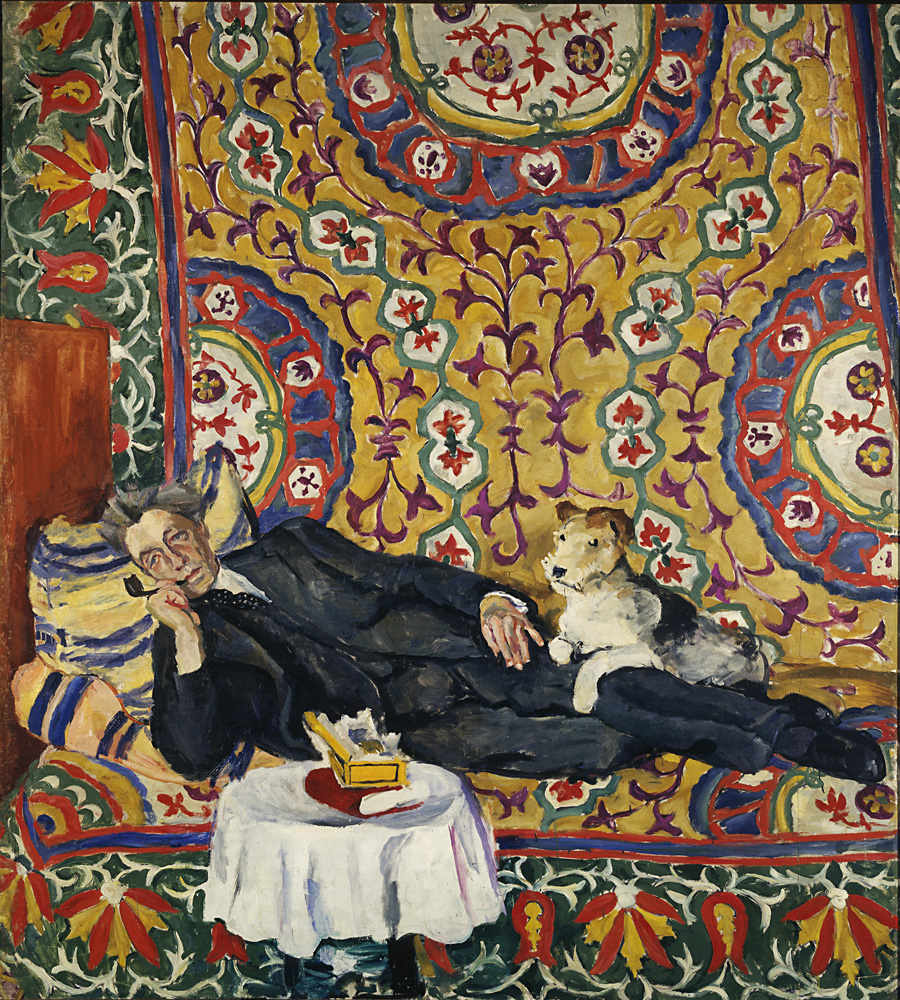 8. One of the artist's recognized masterpieces – Portrait of Vsevolod Meyerhold, a pictorial homage to Matisse, is a symbol of aestheticism and human solitude. It was painted in 1938 in the house of the renowned and already disgraced stage director, one of whose plays had found disfavor with Stalin. A short time after the creation of the portrait, Meyerhold was arrested and shot. // Portrait of Vsevolod Meyerhold, 1938.