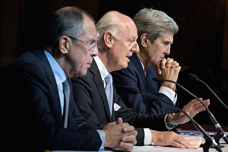 Außenminister berieten erneut über Lösungen für die Syrien-Krise.
