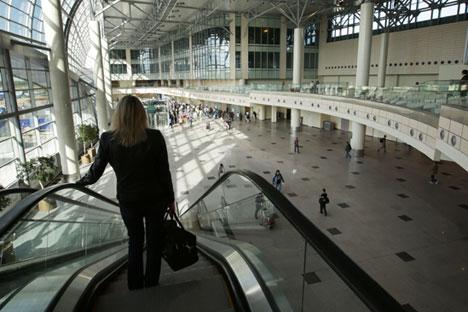 """L'aeroporto """"Domodedovo"""" di Mosca."""