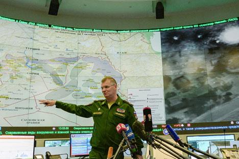 Juru Bicara Kementerian Pertahanan Rusia Mayjen Igor Konashenkov.