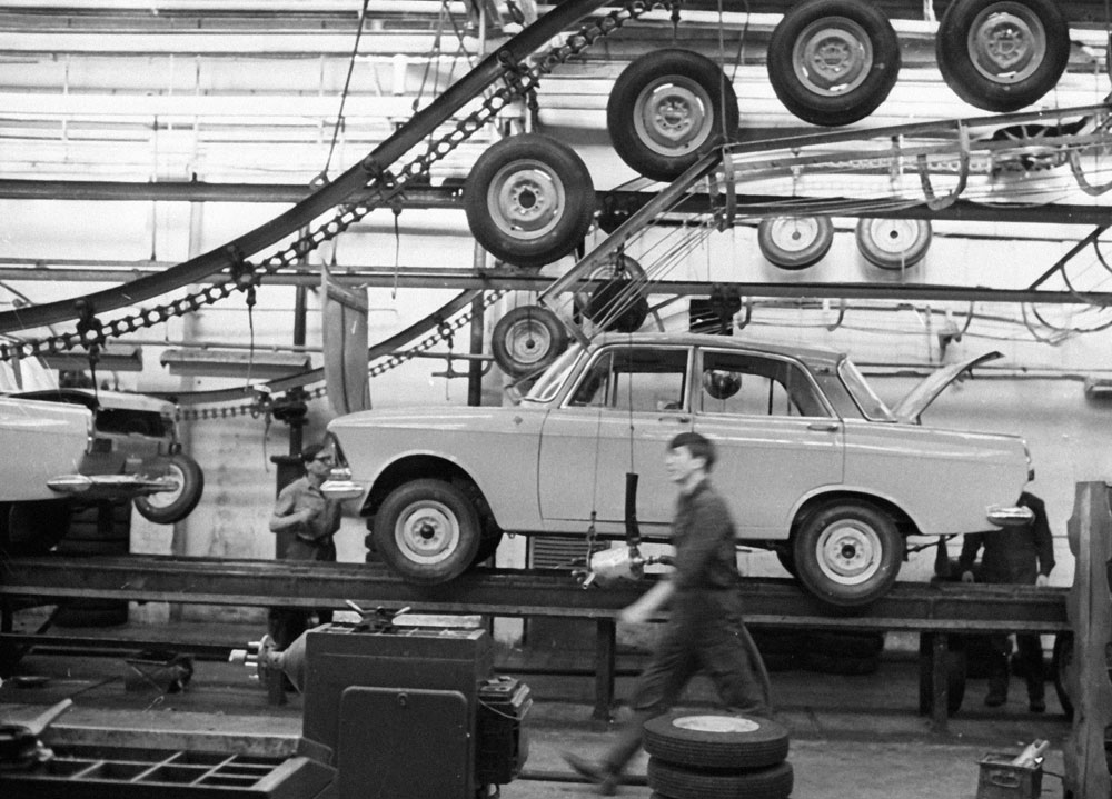 During the Second World War, the Moskvich plant was relocated to Sverdlovsk (now Yekaterinburg) in the Urals, where it produced military hardware.