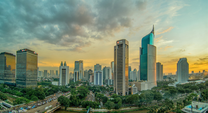 Jakarta Central Business District Afternoon