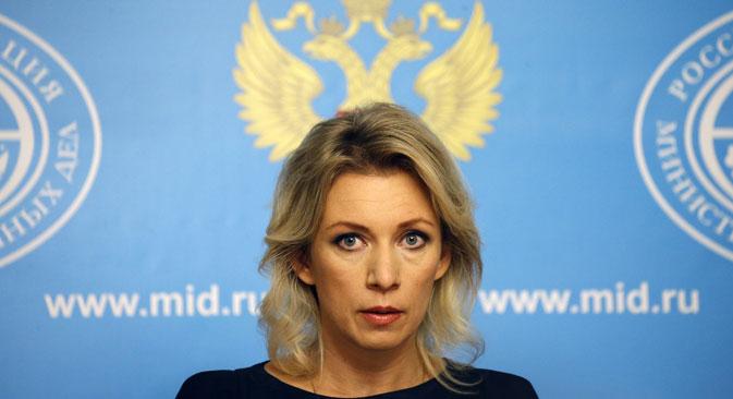 Juru Bicara Kementerian Luar Negeri Rusia Maria Zakharova.
