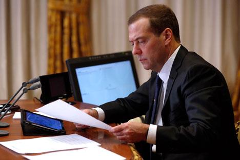 Russia's Prime Minister Dmitry Medvedev.
