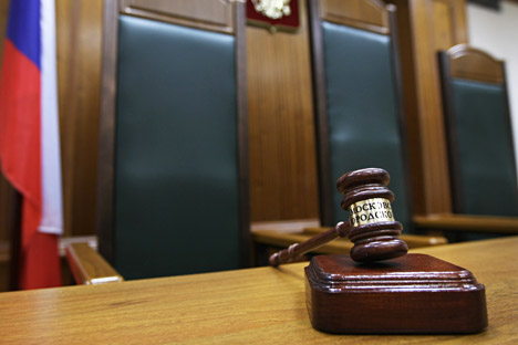 Four judges were killed in Dagestan in 2013. Photo: Judge's chair in the courtroom of Moscow City Court.