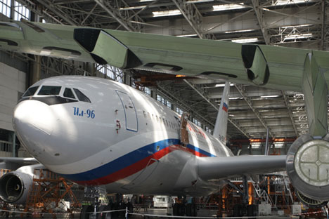 This IL-96-300 passenger airplane.
