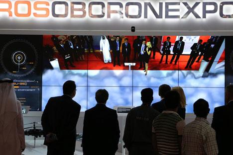Estande da Rosoboronexport na capital francesa apresenta soluções de TI e mais de 200 tipos de recursos técnicos