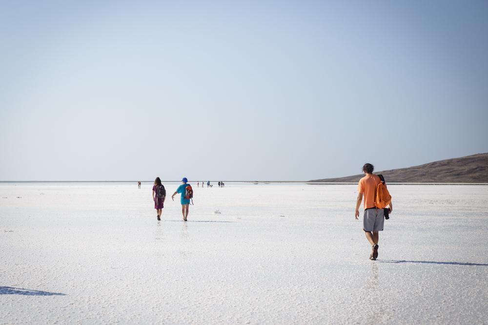 Površina poput ogledala slanih krimskih jezera podsjeća na slična jezera u Boliviji.