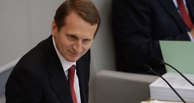 Russian State Duma Speaker Sergei Naryshkin.