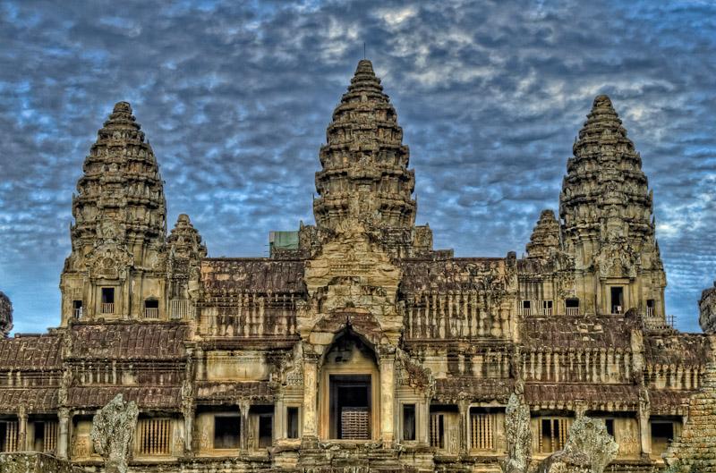 The Angkor Wat temple, Cambodia.