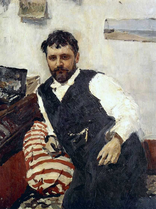 The name Korovin is associated with Russian impressionism – an art trend that was born in France and spread widely in European art in the last quarter of the 19th century. / Portrait of Konstantin Korovin by  Valentin Serov, 1891.