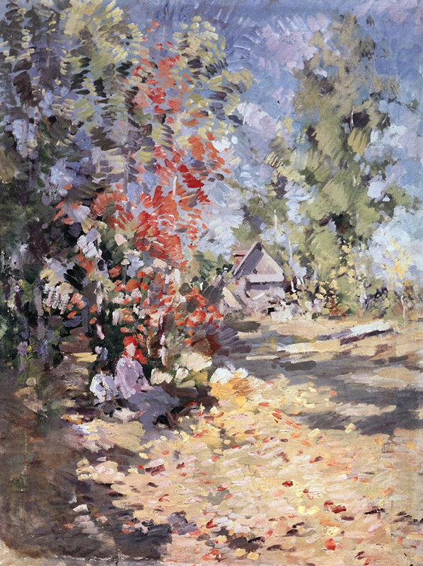 "Light and color became ""the main characters"" of the impressionist paintings of Monet, Sisley, Van Gogh, Renoir and others. / Fall, 1917."