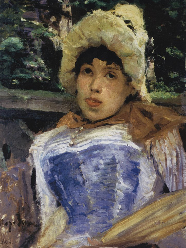 Impressionists often worked en plein air (literally, in open air), so their works were full of freshness and pure colors never seen before. These drawings are full of spontaneity and reflections of ordinary life. Such randomness does not follow the normal rules of composition. A Portrait of a Chorus Girl (1883) is regarded as perhaps the very first work of Russian impressionism. / A Portrait of a Chorus Girl, 1883.