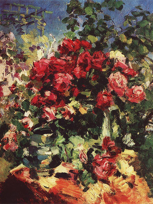 Korovin's talent was not recognized by contemporaries for a long time. / Roses, 1917.