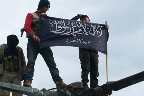 Rebels from Jabhat al-Nusra, also known as the Nusra Front.