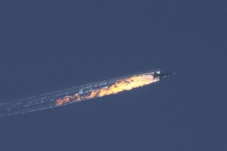 Destino de pilotos russos a bordo de caça abatido ainda não foi confirmado.