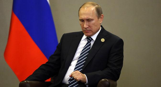 Рускиот претседател Владимир Путин на билатерална средба во текот на самитот на Г-20 на 16 ноември, 2015, во Анталија, Турција.