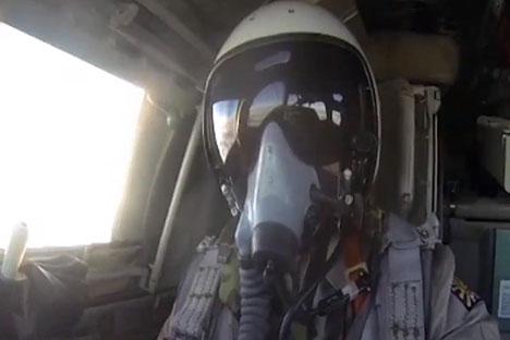 Il pilota delle forze aere russe in Siria
