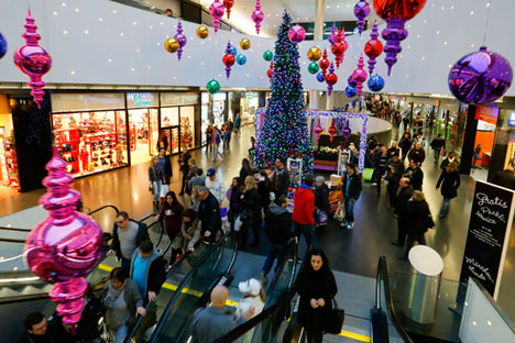 Dans le centre commercial Sihlcity à Zurich, le 22 décembre 2013.