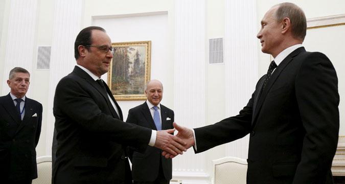 Владимир Путин и Францоа Оланд.
