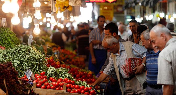 Turquia é importante fornecedor de tomate, cebola e pepino à Rússia.