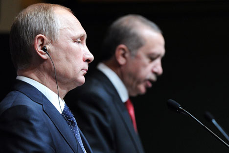 Russian President Vladimir Putin has penned a decree introducing sanctions against Turkey.